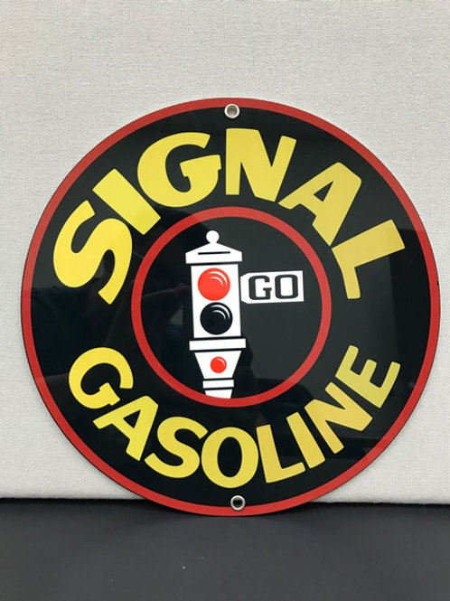 SIGNAL GASOLINE REPRODUCTION SIGN