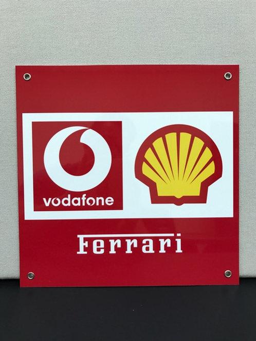 F1 FERRARI TEAM REPRODUCTION SIGN