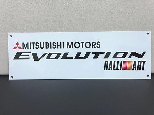 MITSUBISHI EVOLUTION RALLI REPRODUCTION SIGN