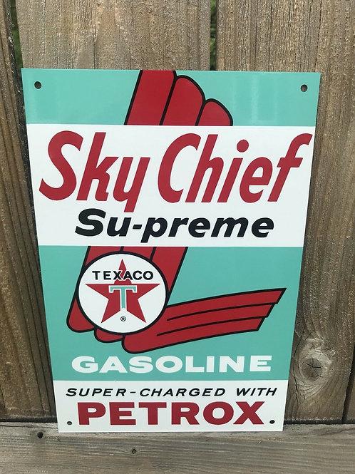 Texaco Sky Chief Gasoline Vintage Sign