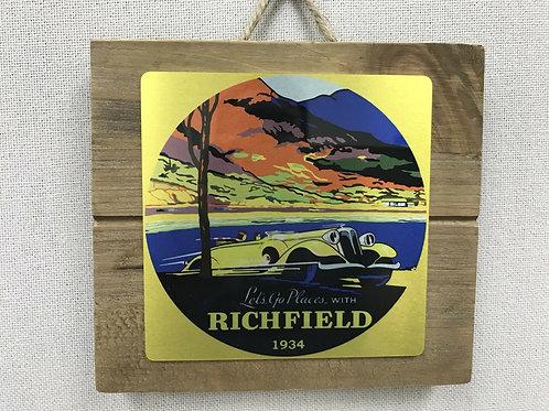 Richfield Gasoline Advertising Sign