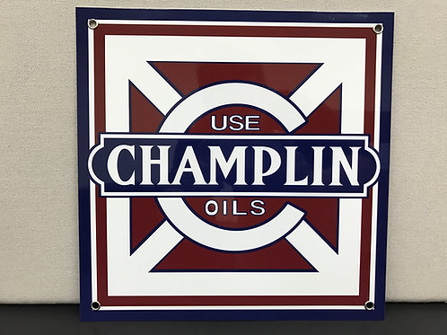 CHAMPLAIN OILS SQUARE REPRODUCTION SIGN