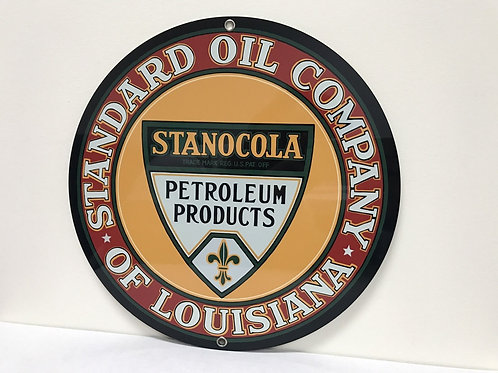 STANDARD OIL COMPANY STANOCOLA REPRODUCTION SIGN