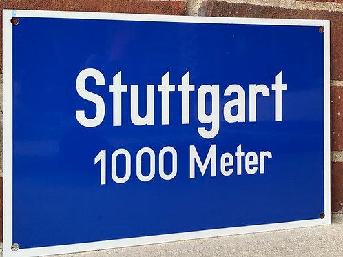 Stuttgart Road Sign