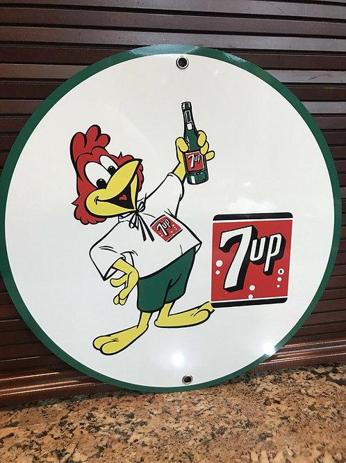 Seven Up Soda Pop Art Vintage Sign