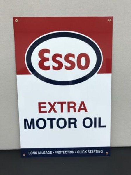 Esso Extra Motor Oil Sign