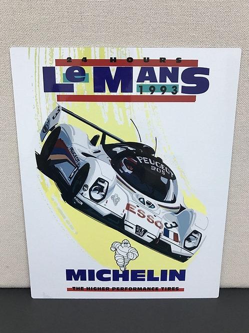 LE MANS 1993 REPRODUCTION SIGN