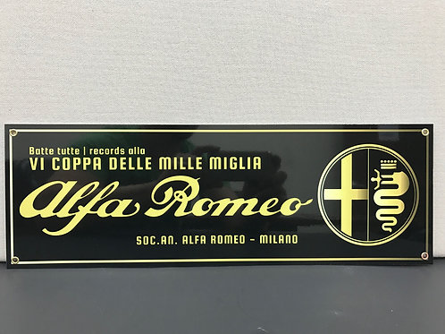 ALFA ROMEO MILLE MIGLIA VINTAGE REPRODUCTION SIGN