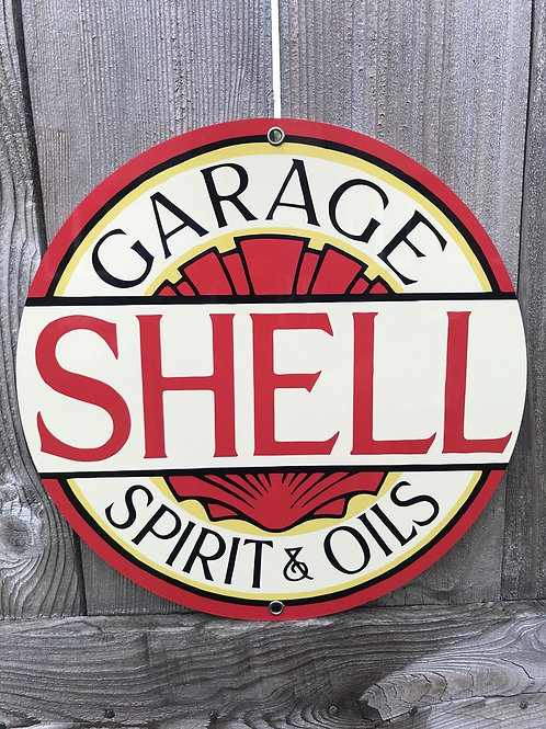 Shell Garage Spirit And Oils Sign