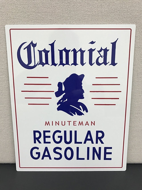 COLONIAL REGULAR GASOLINE REPRODUCTION SIGN