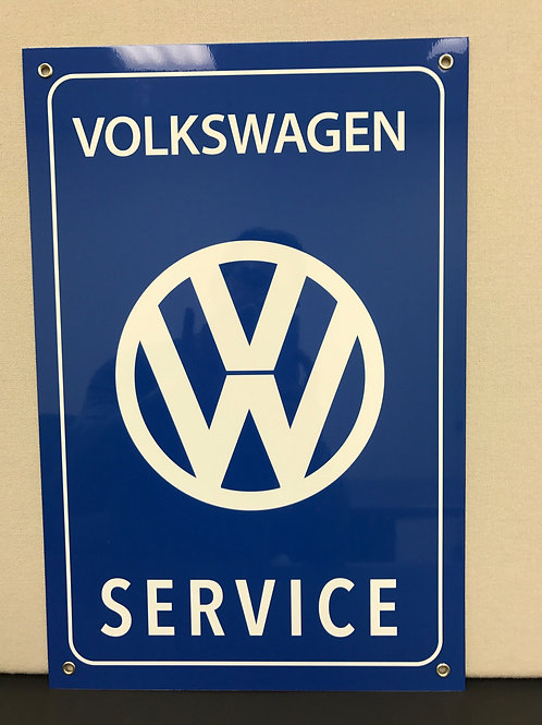 VW SERVICE REPRODUCTION SIGN
