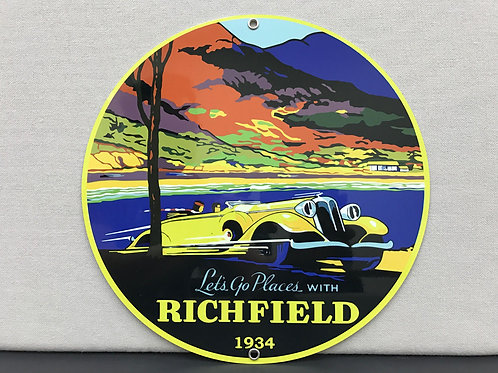 RICHFIELD 1934 GASOLINE REPRODUCTION SIGN