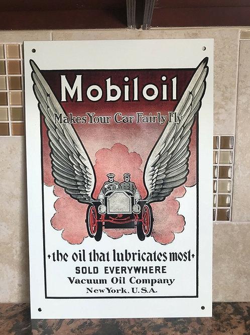 Mobiloil Makes Your Car Fly Vintage Sign