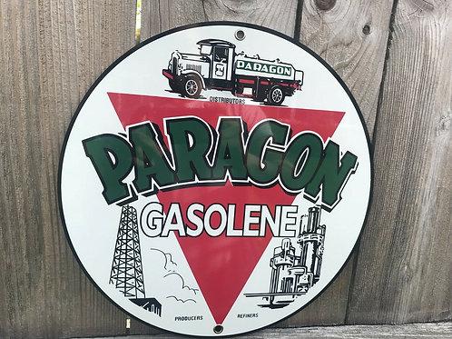 Paragon Gasolene Vintage Sign