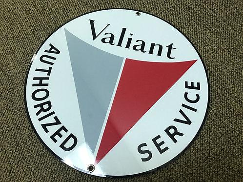Valiant Service Vintage Sign