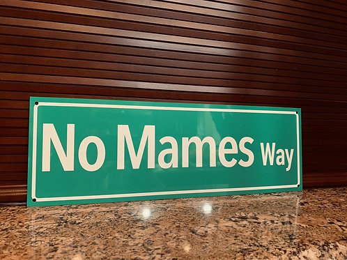 Mexican Road Avenue Street Sign