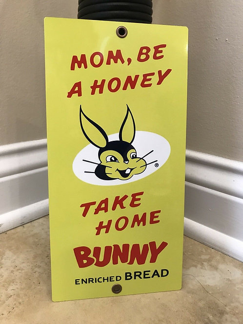 Bunny Enriched Bread Vintage Sign