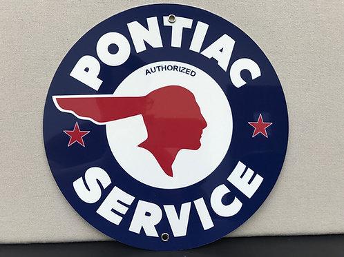 PONTIAC SERVICE VINTAGE REPRODUCTION SIGN