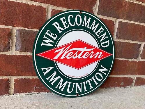 Western Ammunition Vintage Style Sign