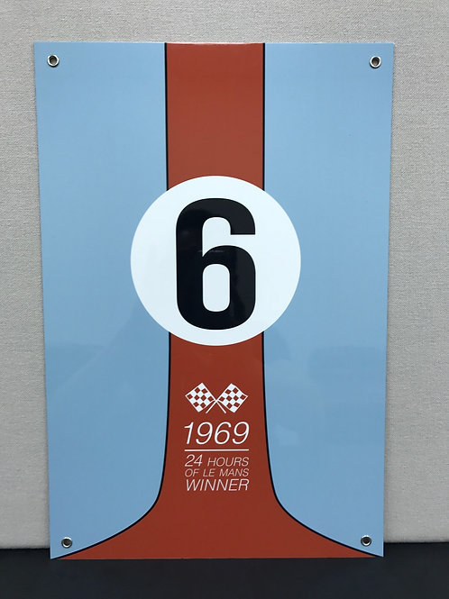 1969 LE MANS WINNER REPRODUCTION SIGN