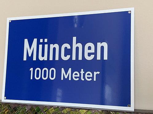 Munich Autobahn Road Sign