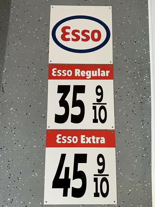 Esso Regular & Extra - 3 Piece 1940-50s Vintage Sign