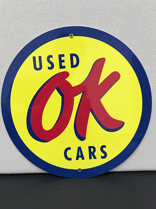 OK USED CARS VINTAGE REPRODUCTION SIGN