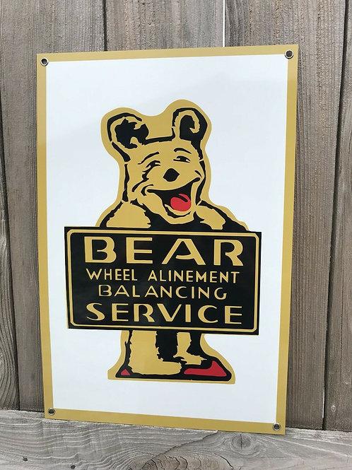 Bear Service Vintage Sign