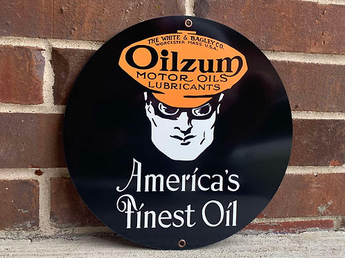 OILZUM MOTOR OIL REPRODUCTION SIGN