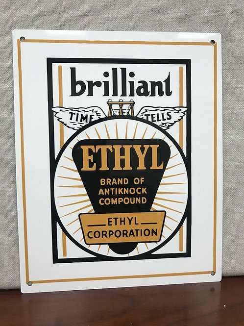 Johnson Brilliant Ethyl Gasoline Sign