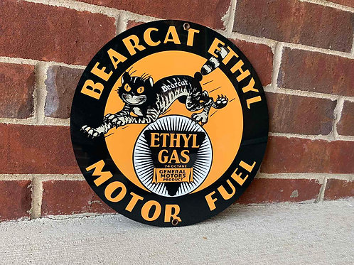 Bearcat Ethyl Motor Fuel Vintage Style Sign