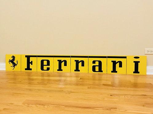 8 PIECE FERRARI SIGN_YELLOW