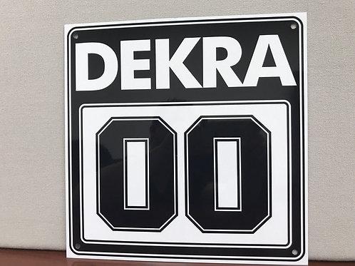 DEKRA RACING 00 BLACK REPRODUCTION SIGN