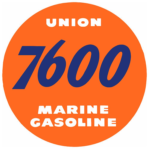 UNION 7600 MARINE GASOLINE REPRODUCTION SIGN