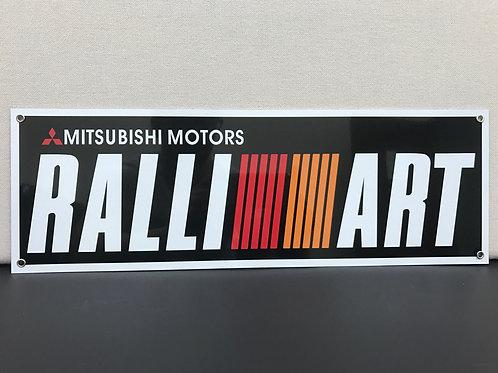 RALLI ART MITSUBISHI MOTORS REPRODUCTION SIGN