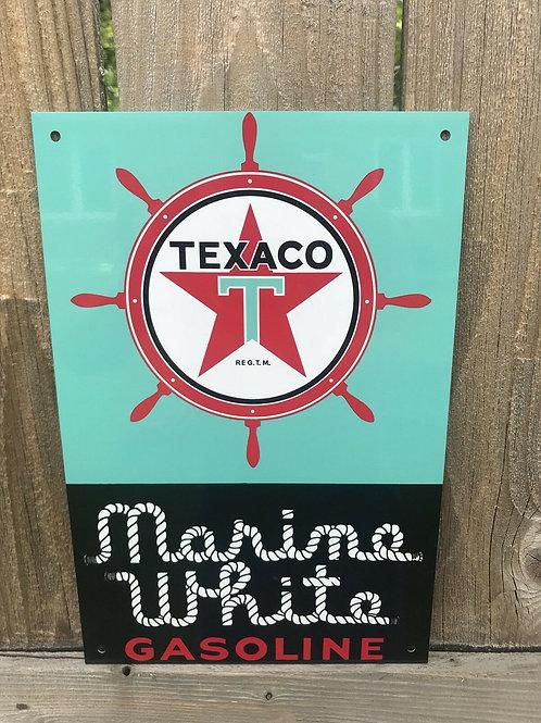 Texaco Marine White Sign
