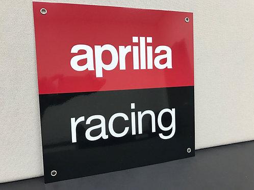 APRILLIA RACING MOTOR REPRODUCTION SIGN