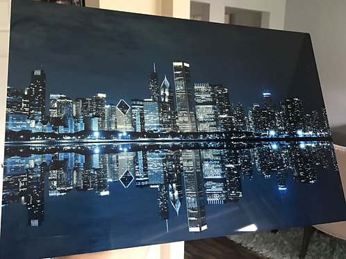 CHICAGO SKYLINE HI DEF METAL PANEL