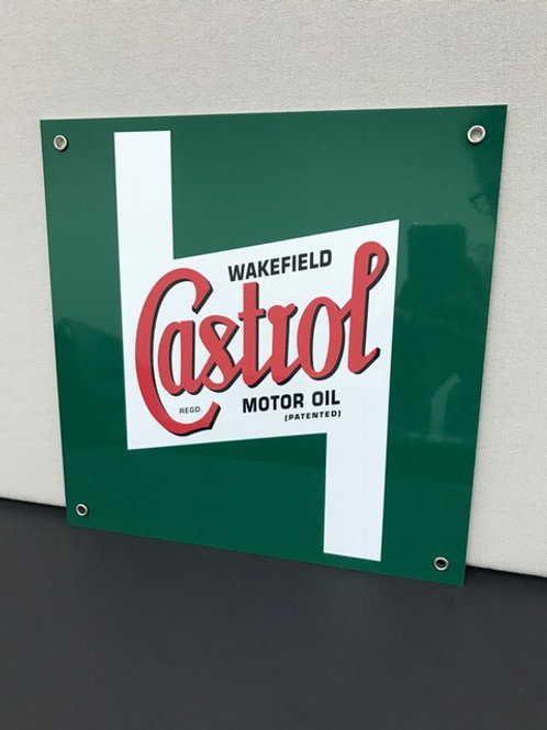 CASTROL MOTOR OIL SQUARE REPRODUCTION SIGN
