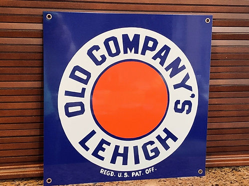 Old Company's Lehigh Anthracite Coal Vintage Sign