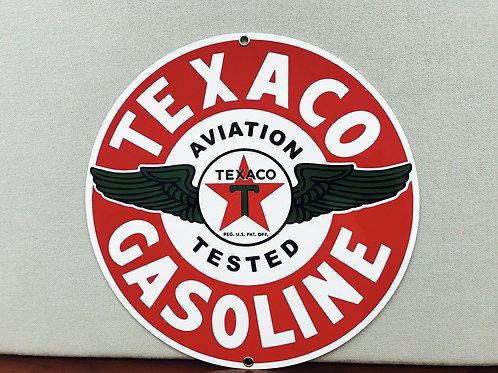 Texaco Aviation Gasoline Sign