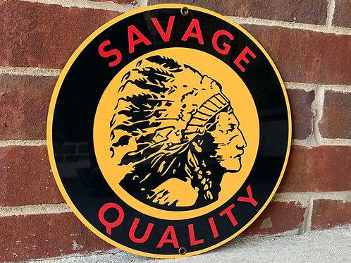 Savage Gasoline Vintage Style Sign