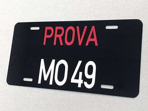 PROVA MO 49 REPRODUCTION LICENSE PLATE