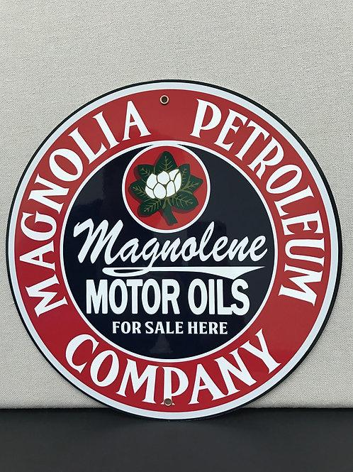 MAGNOLIA PETROLEUM OIL GASOLINE REPRODUCTION SIGN
