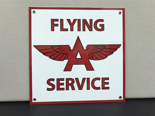 FLYING A AVIATION SERVICE REPRODUCTION SIGN