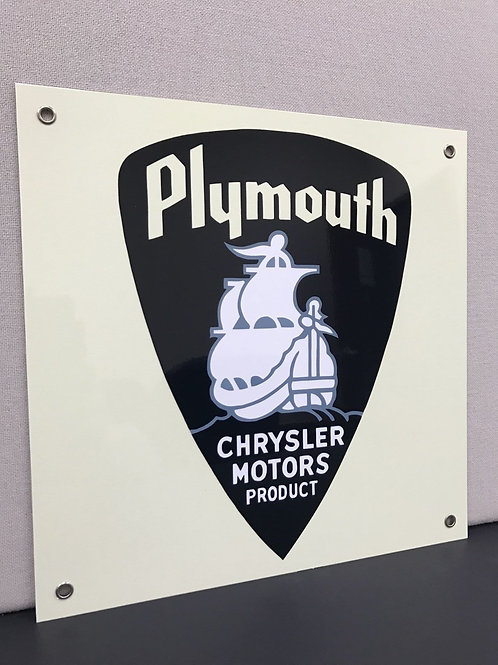 PLYMOUTH RETRO REPRODUCTION SIGN