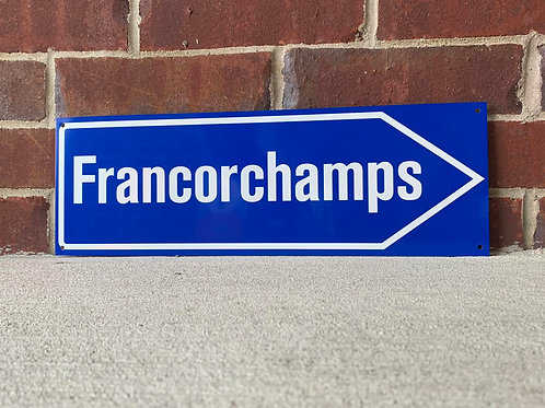 Francorchamps Road Sign