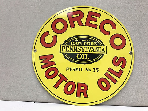 Coreco Motor Oils Sign