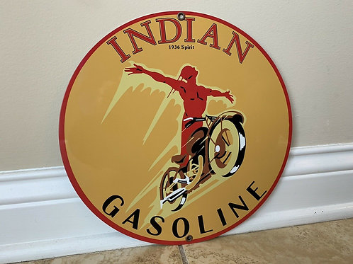 Indian Gasoline Advertising Sign