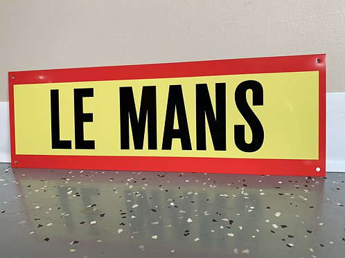 Le Mans Racing Sign